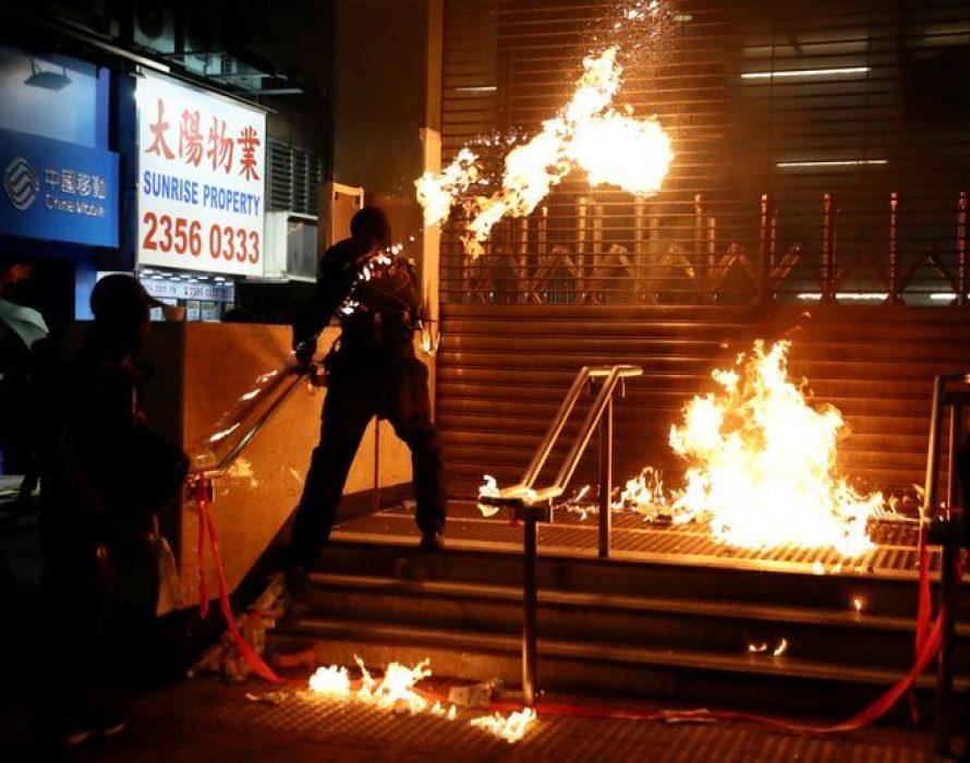 China suspends US military visits to Hong Kong, sanctions US-based NGOs