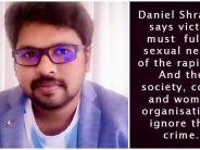 Filmmaker Daniel Shravan: Rape victims should carry condoms and cooperate in rape to avoid their murder afterwards