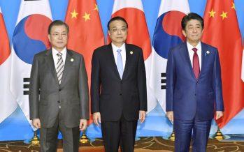 South Korea, Japan, China leaders to promote North Korea-US dialogue