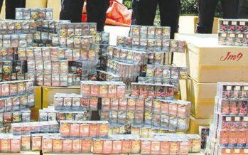 Gambling items, contraband seized in warehouse raid