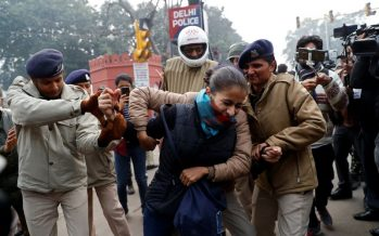 India protest: Police detain protesters against citizenship law