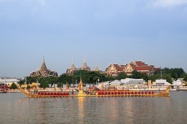 The Royal Barge Procession (full-dress rehearsal) on 21 October, 2019