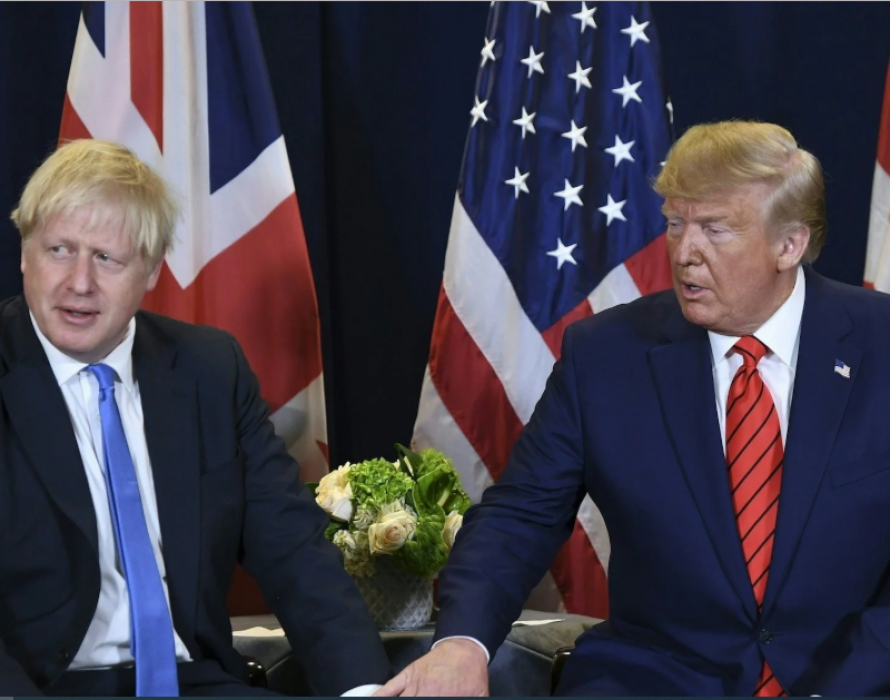 Trump off to London for NATO summit, told to stop being nosy on British polls