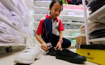 Parents split over any coloured shoes to school
