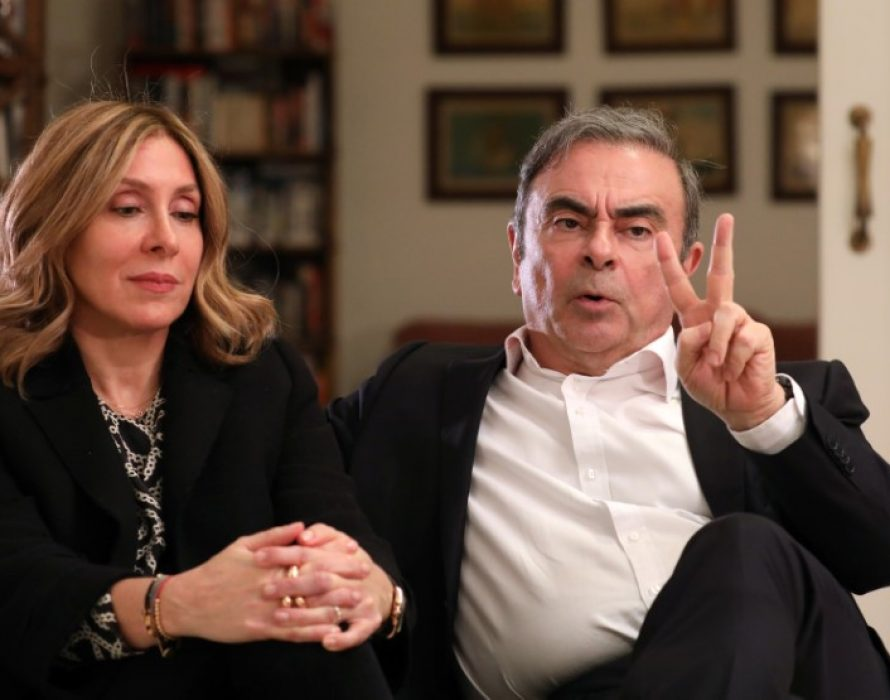 Wife of fugitive Ghosn slams Japanese justice