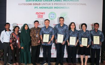 Consistent with commitment to be eco-friendly, PT Mowilex Indonesia achieves Gold rating in Green Label Indonesia certification