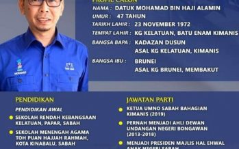Kimanis by-election: Mohamad named BN candidate