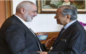 Dr M receives courtesy call from Hamas leader Ismail Haniyeh