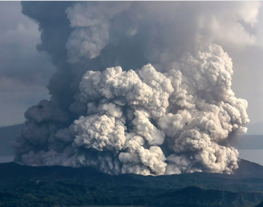 Flights temporarily suspended at Manila Airport as Taal Volcano spews ash