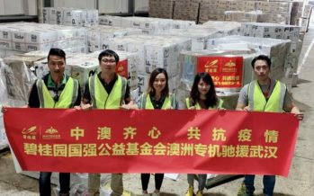 Country Garden Delivered 100,000 Protective Suits Directly from Sydney to Wuhan to Support Healthcare Workers