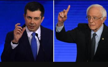 Sanders and Buttigieg face attacks at Democratic presidential debate