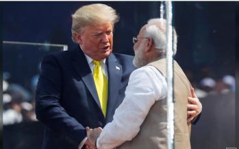 'Namaste Trump': Modi holds huge rally for president's visit