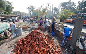 Another wall goes up for Trump, this time in India