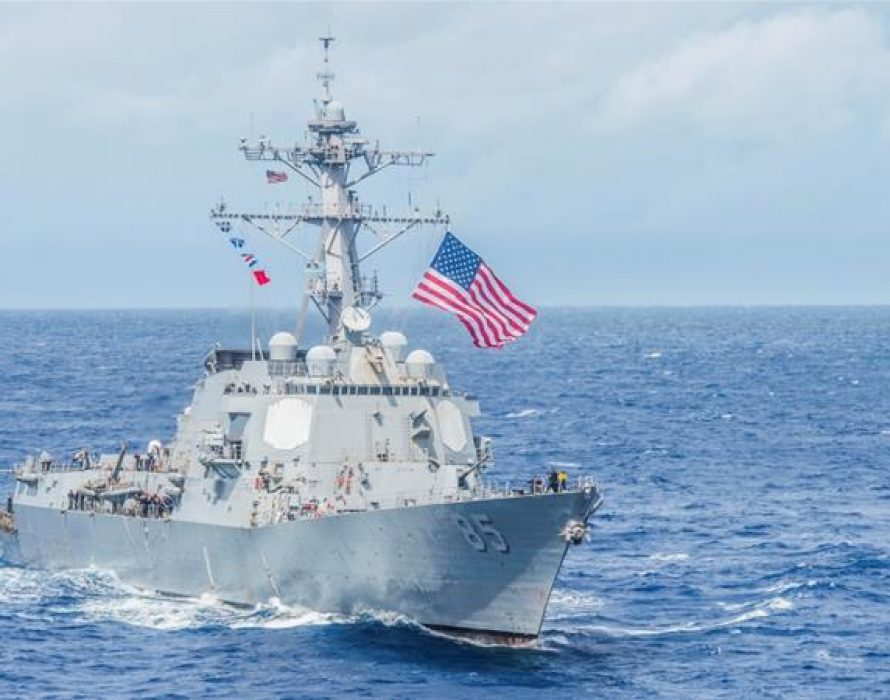 U.S. warship sails through Taiwan Strait amid heightened China tensions