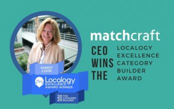 MatchCraft's CEO Wins the Localogy Excellence Category Builder Award