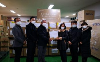 """The flowers are blooming, and the hope is dawning"": Fosun donates 22,000 pieces of medical protective supplies to South Korea"