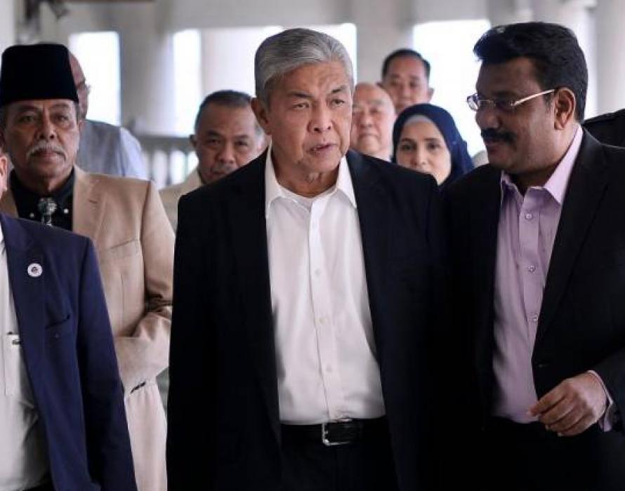 Ahmad Zahid in quarantine, trial postponed again