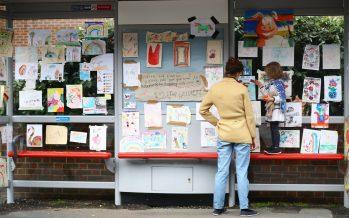 London bus stop turns art gallery to cheer up people during lockdown