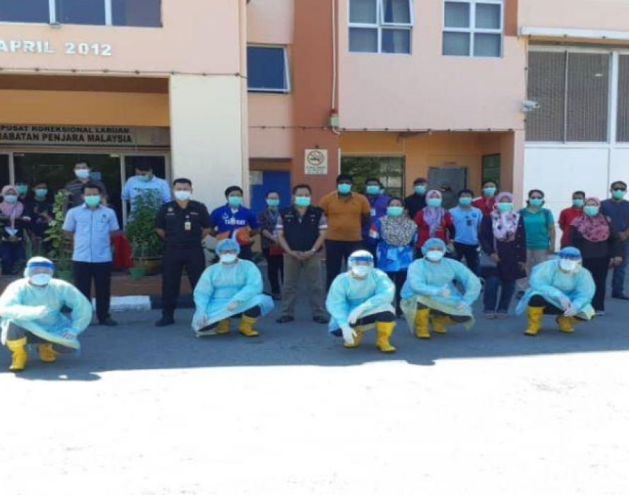 COVID-19: Labuan prison undergone disinfection training