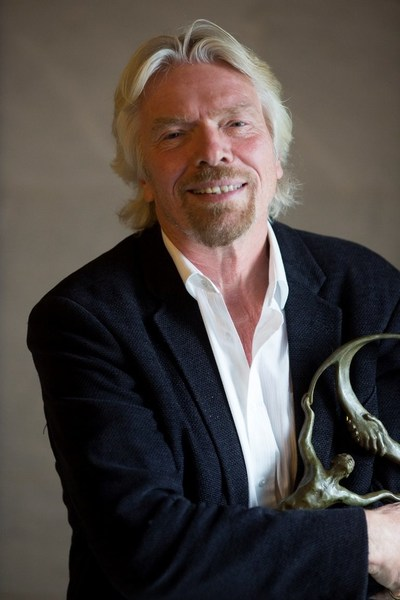 Richard Branson with Business for Peace Award Business for Peace Foundation
