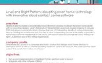 Bright Pattern Contact Center Chosen by Level, the World's First Invisible Smart Lock for Home Security