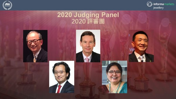 The JNA Awards 2020 Judging Panel (From left to right) - Albert Cheng, CEO, Singapore Bullion Market Association and International Advisor, Shanghai Gold Exchange; Mark Lee, Research Director of Asia Pacific Institute for Strategy (APIFS); James Courage, former Chief Executive of Platinum Guild International (PGI) and former Chairman of the Responsible Jewellery Council (RJC); Nirupa Bhatt, Senior Advisor to the Gemological Institute of America (GIA) India; and Lin Qiang, President and Managing Director of