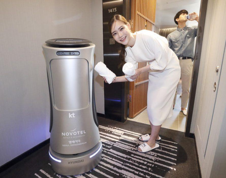 KT's 2nd Generation AI Hotel Robot Enhances Room Services