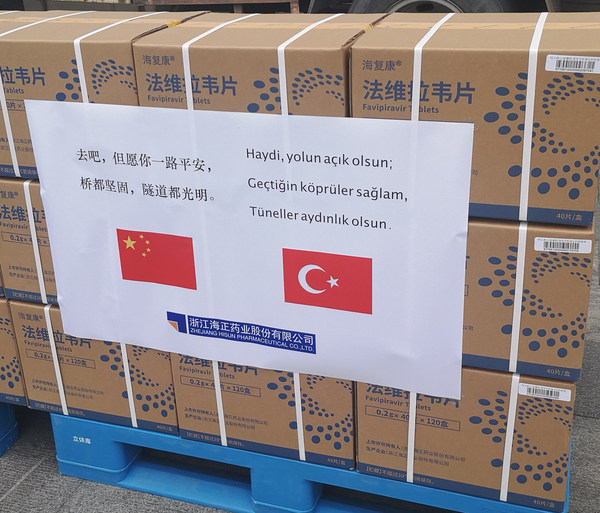 China supporting Turkey with Favipiravir Tablets