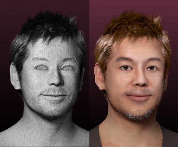 """""""Takafumi Roid Horie"""" (Horieroid) project to create Takafumi Horie's virtual human avatar"""