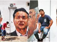 Nation's heroes immortalised in giant mural painting