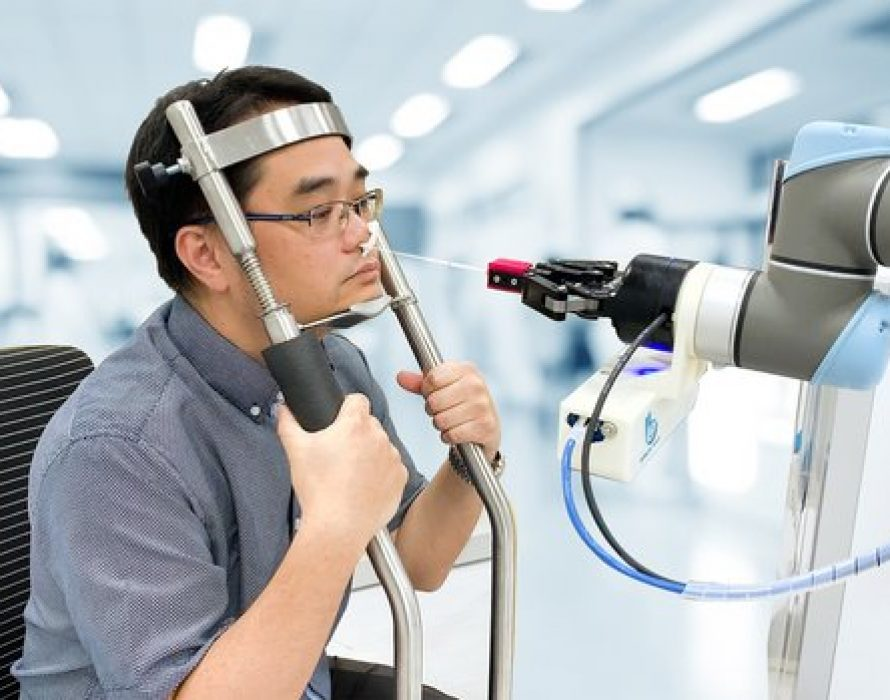 Brain Navi Develops New Robot Performing Nasal Swab Tests to Prevent Cross Infections