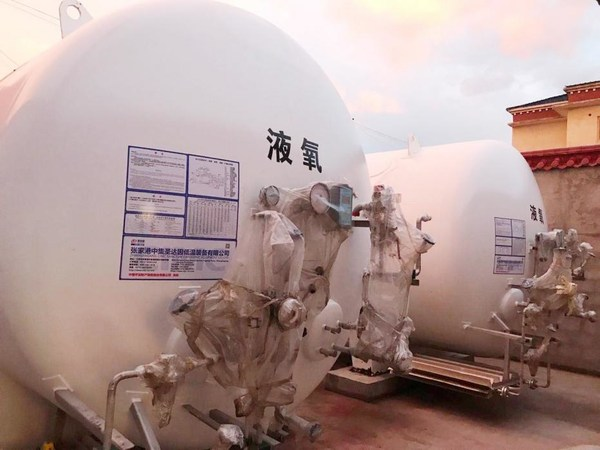 The tanks have been provided to Tibet to contribute to the region's oxygen supply project.