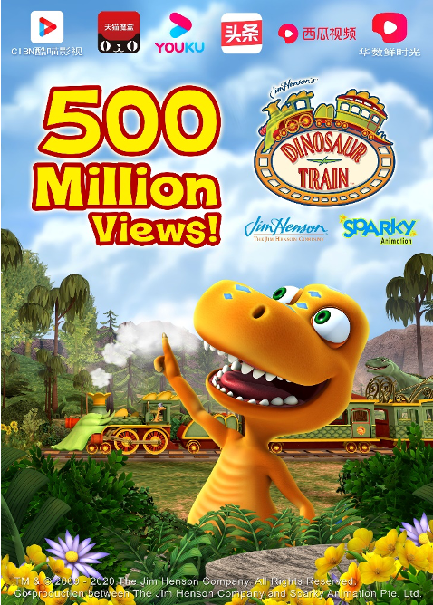 Dinosaur Train Records 500 Million Viewers on China's IPTV Platforms