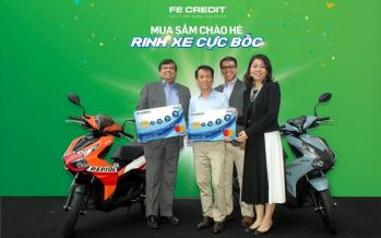FE Credit launches a Mega Card Spend Promotion giving away not 1, 2 or 3 but 60 latest Honda Air Blade Motorbikes