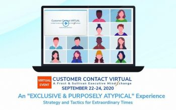 Frost & Sullivan Announces First Customer Contact VIRTUAL