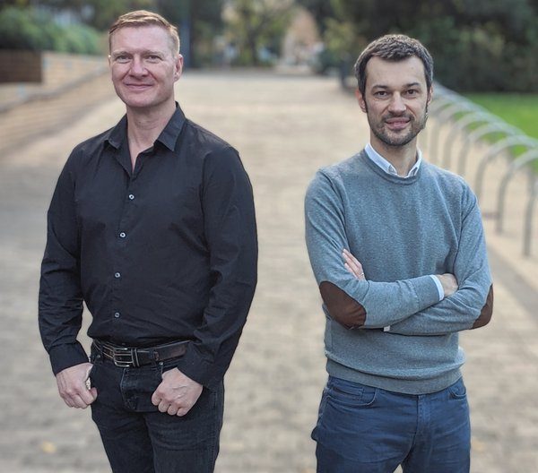 Adam Mutton (left) Managing Director of Delivery for Leonardo with Prof Marcello La Rosa (right) CEO and Founder of Apromore.