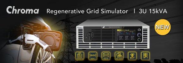 Chroma New 3U Height 15kVA Grid Simulator