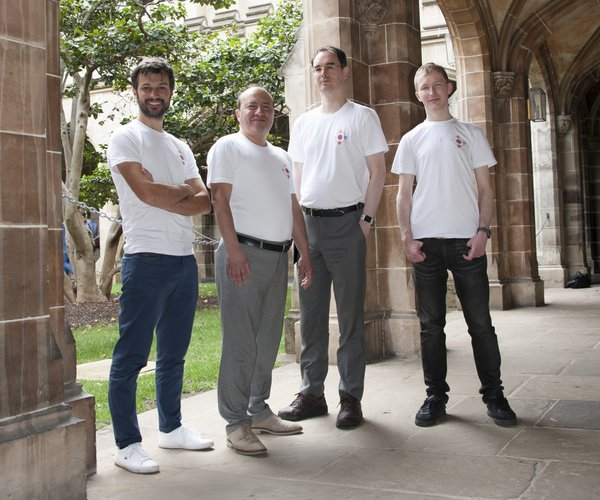 From left: Prof Marcello La Rosa - CEO and Co-Founder, Prof Marlon Dumas - Partnerships and Co Founder, Dr Simon Raboczi - Chief Architect and Co-Founder and Dr Ilya Verenich – Chief Data Scientist and Co-Founder.