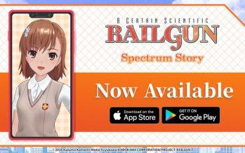 Smartphone Application Railgun: Spectrum Story Now Available