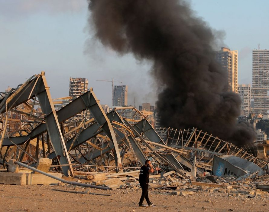 300k Lebanese Refuse to leave damaged homes after blast