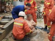 Overweight Chinese man's belly saves him from falling down a well