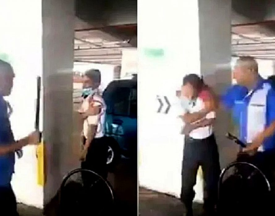 Police record statement from security guard assaulted in Wangsa Maju