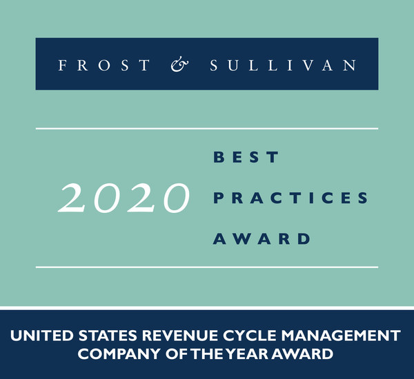 2020 United States Revenue Cycle Management Company of the Year Award