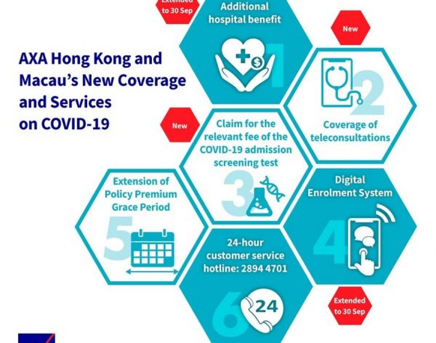 AXA Hong Kong launches additional coverage for COVID-19