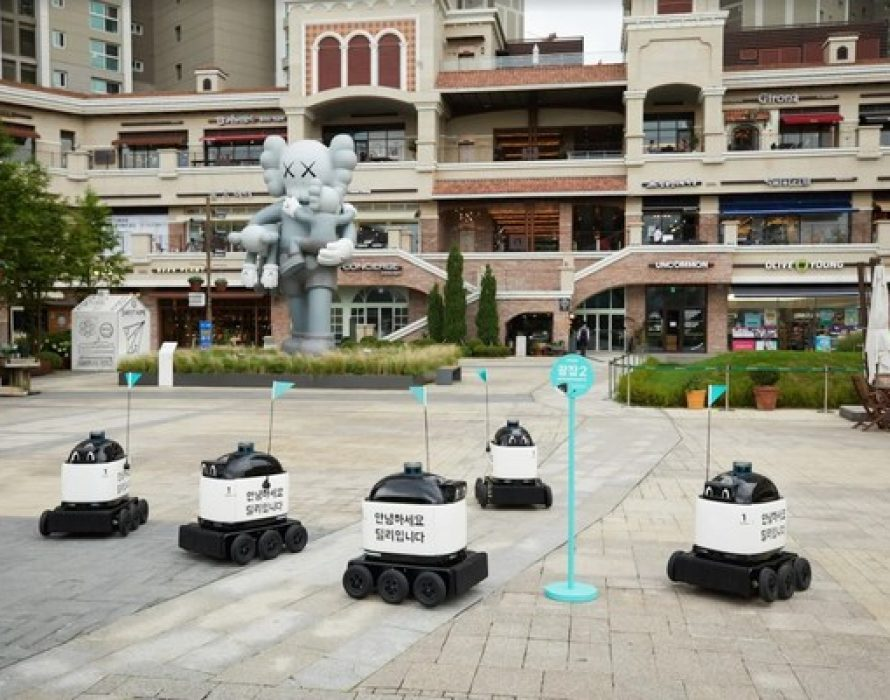"Baemin Introduces an Outdoor Delivery Robot ""The City of the Future Became A Reality"""