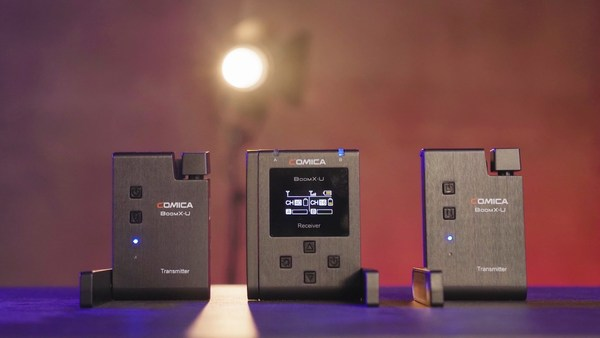 BoomX-U: Broadcasting-Level Multi-functional Mini UHF Wireless Microphone with Dual-transmitters and One Receiver