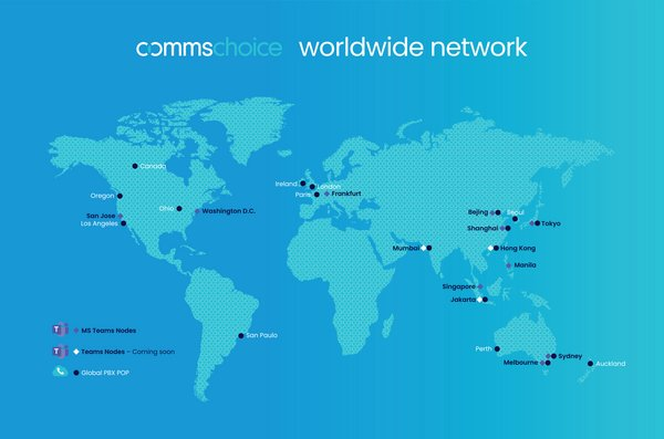CommsChoice worldwide Microsoft Teams network