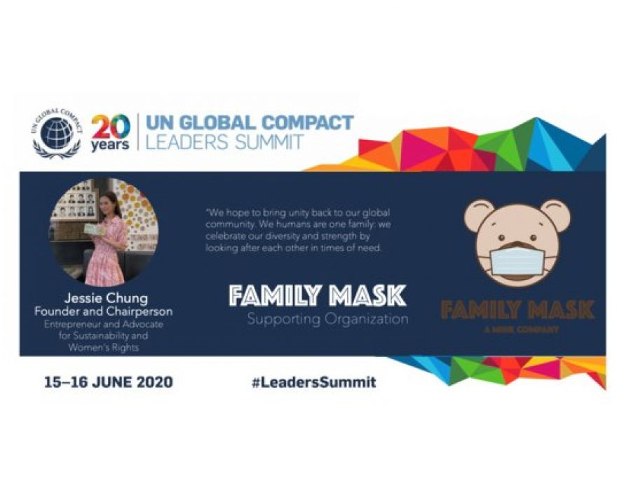 Family Mask Supports UNGC Leaders' Summit 2020