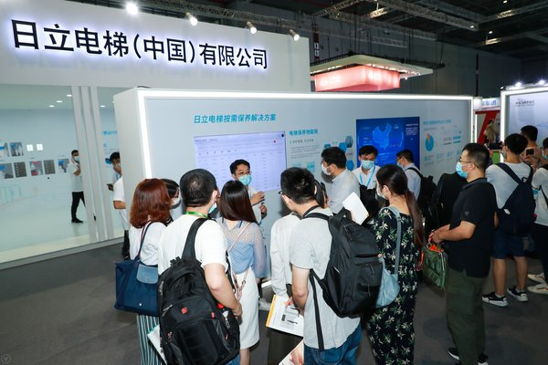 Hitachi Elevator's on-demand maintenance solution attracts the attention of visitors and professional buyers