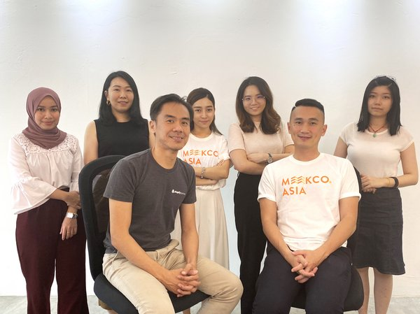 CEO & Founder Kah Hing and his team at Meekco.Asia
